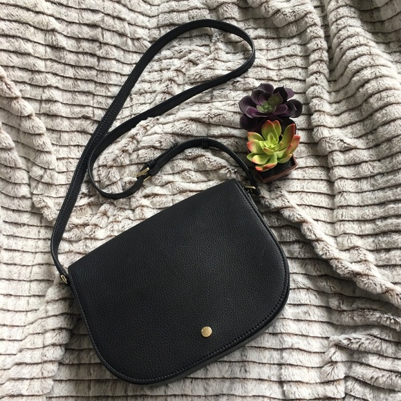 5f614deb76 Ecco Kauai Medium Black Leather Saddle Bag